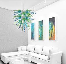 großhandel moderne led pendelleuchte hauptdekoration wohnzimmer leuchten stil geblasenem glas hängeleuchter licht zens 304 05 auf