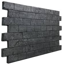 astonishing brick wall panel slate subway tile almond traditional