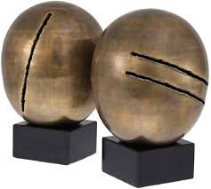 casa padrino luxus deko objekte set vintage messingfarben schwarz ø 20 x h 32 cm büro deko schreibtisch deko wohnzimmer deko luxus