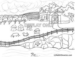 Rural Country Coloring Page Scenes