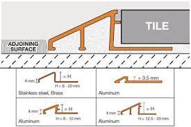 schluter reno u tile edge protection floor transition profiles