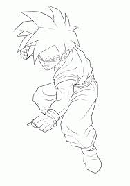Gohan Coloring Pages Dragon Ball Z Home To Download