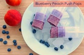 Blueberry Peach Push Pops