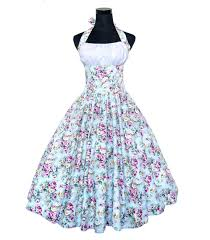woman summer swing 50s 60s vintage retro dress robe rockabilly pin
