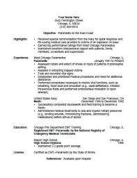 resume for firefighter paramedic emt resume objective emt b resume sle emt resume sles