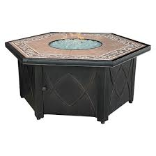 uniflame ceramic tile hexagon propane gas pit target