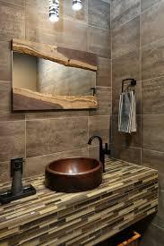 Diy Industrial Bathroom Mirror by Diy Bathroom Mirror Frame Ideas Powder Room Contemporary With Tile