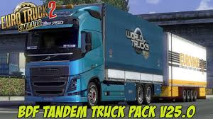 Euro Truck Simulator 2 - BDF Tandem Truck Pack V25.0 - Mod Demonstration +  Download Link.