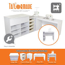 Koala Sewing Cabinets Canada by Elements Desk Drawers Storage Cutting Table Overlocker Table