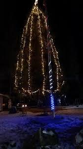 Flagpole Christmas Tree by White Pines Parade Of Lights Whitepinesparadeoflights