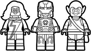 Lego Iron Man Vs Ms Marvel Green Goblin Coloring Book Pages Kids Fun Art
