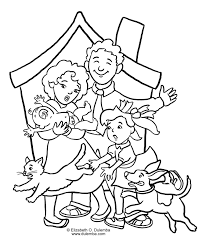 Printable Family Coloring Pages