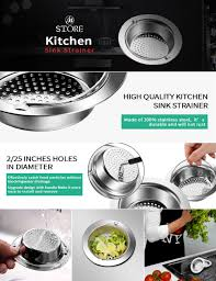 Oxo Good Grips Sink Strainer by Kitchen Sink Strainer Fu Store 2 Pieces Stainless Steel Sink