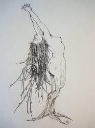 Smoking Gypsy Tree Tattoo On Biceps