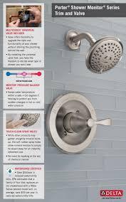 Moen Adler Faucet Brushed Nickel by Delta Porter Single Handle 3 Spray Shower Faucet In Brushed Nickel