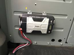 100 Truck Power Inverter Install In My Service Van Used Welding Cable For The Power