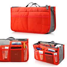 lady women travel insert organizer compartment bag handbag purse