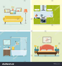 Play Kitchen Room Clipart S Free Download Clip Art Cozy Interior Flat Style Stock Vector