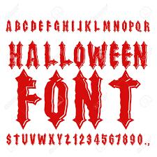 Halloween Font Ancient Alphabet Blood Gothic Letters Vintage