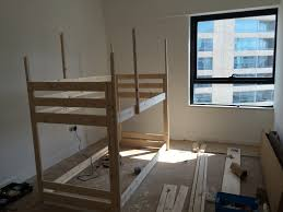 Mydal Bunk Bed by Make An Indoor Playhouse Bunk Bed Ikea Mydal Hack Ikea Hackers