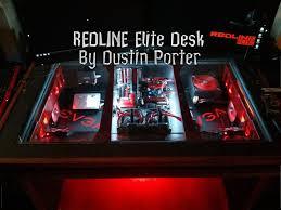 Redline Elite PC Desk Mod WaterCooled by Dustin Porter