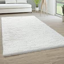 paco home hochflor teppich wohnzimmer fellteppich kunstfell shaggy flauschig einfarbig grösse 80x150 cm farbe weiß