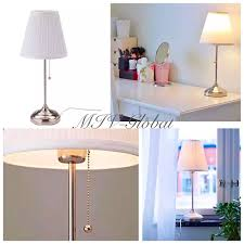 Ikea Alang Table Lamp With Grey Shade by Ikea Arstid Table Lamp Nickel Plated White Pull Switch Desk Office