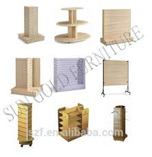5 Tier Round Wooden Display Table Stand For Clothing StoreSZ WDR004