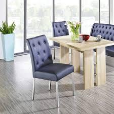 blaue polsterbank stühle mit tisch lumbia 4 teilig