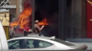 100 Propane Truck Explosion Burning Tank In Pickup Explodes In Drive Thru
