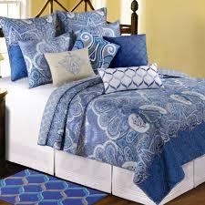Daphne Blue Paisley Medallion Quilt Bedding