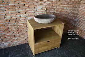 waschtisch unterschrank kommode teak holz teakholz bad wc