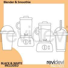 Smoothie Juice Clip Art Bundle Blender Drinks Clipart