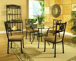 Dinette Sets With Caster Chairs by Bedroom Captivating Beautiful Round Glass Dining Table And