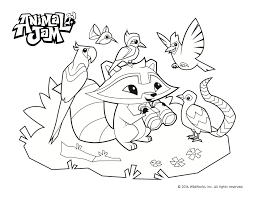 Animal Jam Coloring Pages To Print 1