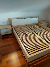la nolte schlafzimmer nachttisch ahorn weiß 180x200 bett