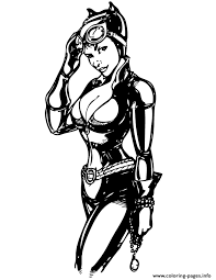 Pretty Catwoman From Batman Comic Coloring Pages Print Download 517 Prints