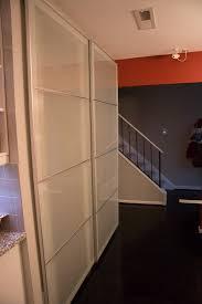 Drill In Cabinet Door Bumper Pads by Installing Ikea Pax Doors As Sliding Closet Doors Ikea Hack