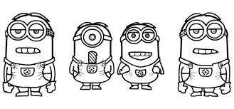 Minion Coloring Pages Ace Page And Wallpaper