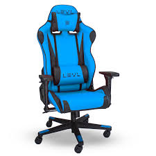 levl gaming alpha series s chair in black blue