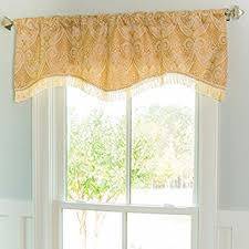 Allen Roth Curtains Bristol by Amazon Com Allen Roth 16 In L Gold Raja Ascot Valance Home U0026 Kitchen
