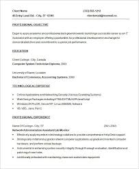 Entry Level Programmer Resume Template Free Download