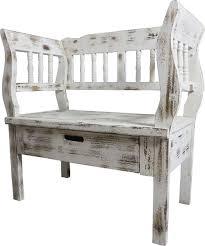 casa padrino landhausstil shabby chic sitzbank mit schublade antik weiß braun 80 x 44 x h 80 cm landhausstil möbel