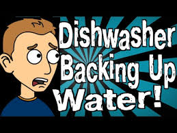 Garbage Disposal Backing Up Into Single Sink by My Dishwasher Is Backing Up With Water Youtube