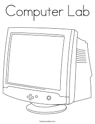Computer Monitor Coloring Page