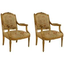 Pair Of French Louis XVI Style Aubusson-Upholstered Giltwood ... Louis Xiv Armchairs 71 For Sale At 1stdibs Vintage French Wire Garden Eloquence One Of A Kind Xv Gilt Ding Chairs Country Set Room Antique Kitchen Upholstered Wpztinfo Rooms Amazing Provincial Australia Caned Back Lyon Cane Linen Elegant 1940s Style Green Velvet Sofa Lilyfield Life Two 1870s 2 For Sale Pamono Sofas Center Impressive Photos Concept