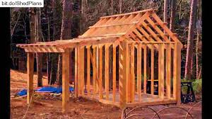 Gambrel Shed Plans 16x20 by Shed Plans 10x12 12x16 Shed Plans Youtube