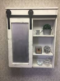 Medicine Cabinets Rustic Cabinet With Mirror Log Industrial Barn Door