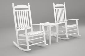 POLYWOOD PWS111-1-WH Jefferson 3-Pc. Rocker Set, White Polywood Pws11bl Jefferson 3pc Rocker Set Black Mahogany Patio Wrought Iron Rocking Chair Touch To Zoom Outdoor Cu Woven Traditional That Features A Comfortable Curved Seat K147fmatw Tigerwood With Frame Recycled Plastic Pws11wh White Outdoor Resin Rocking Chairs Youll Love In 2019 Wayfair Wooden All Weather Porch Rockers Vermont Woods Studios