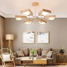 kreative hängeleuchte aus holz für wohnzimmer minimalismus